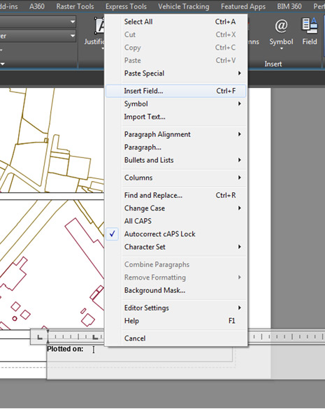 autocad tutorial  using fields for a plot stamp on a title