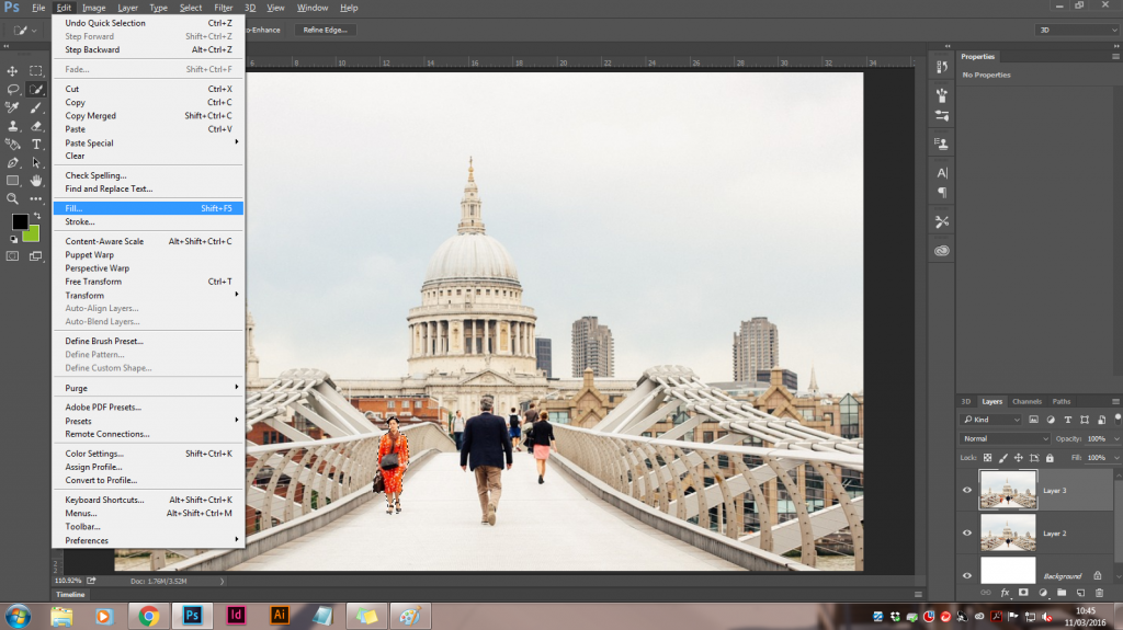 How to remove unwanted objects in an image with Photoshop CC